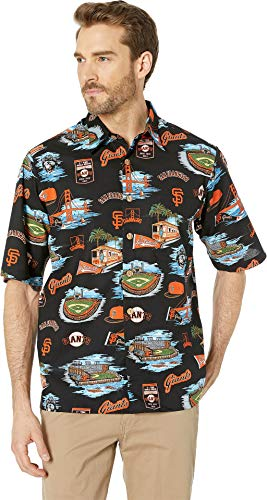 Reyn Spooner Men's San Francisco MLB Classic Fit Hawaiian Shirt, Giants - Scenic 2019, X-Large