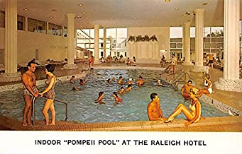 Indoor Pompeii Pool Raleigh Hotel South Fallsburg, New York, Postcard