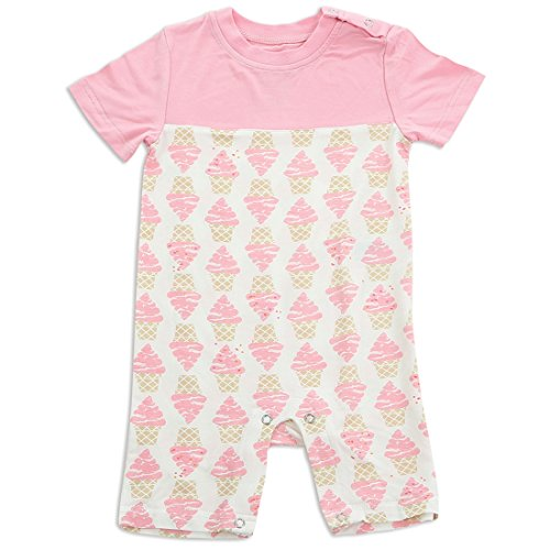 Product Image of the Silkberry Baby Bamboo Short Sleeve Romper Ice Cream 18-24m