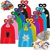 vamei Capas de Superhéroe para Niños Capa y Máscaras de Superhéroe Halloween Disfraz Ideas Kit de Valor de Cosplay de Diseño de Fiesta de Cumpleaños de Navidad - Juguetes para Niños y Niñas