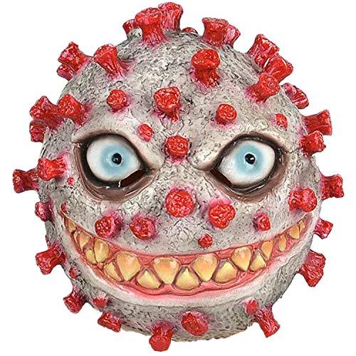 TIMSOPHIA Halloween Gruselige Maske Fasching Horror Maske Grusel Maske Lustige Masken Kostüm für Herren Damen Party oder Bar (rot)