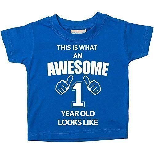This Is What An Awesome 1 Year Old Looks Like Blue Tshirt 1st Birthday Baby Toddler