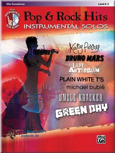 Pop & Rock Hits Instrumental Solos Alto Sax-SAXOPHONE ALTO Partitions pour