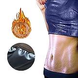 Yissma Sauna Fitness Waist Trainer Camisa de Neopreno Top para Deporte Corsé de Entrenamiento Hot Body Shaper con Caminata Abdominal y Efecto Sudor Hombres, Mujeres