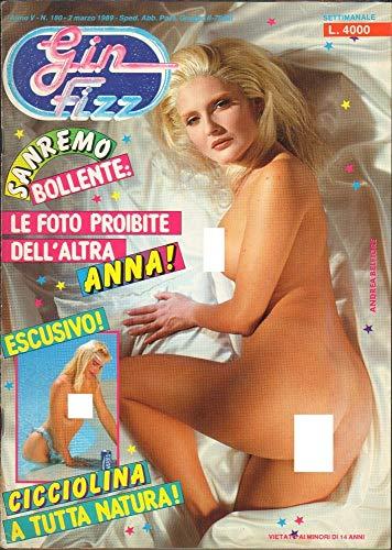 Gin Fizz Rivista erotica Anno 1989. 2 marzo n.180. Cicciolina, Andrea Belfiore, Sabrina Salerno