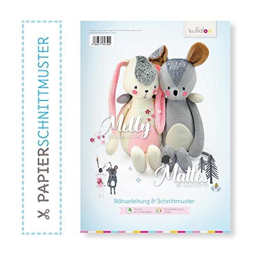 kullaloo Doppelpapierschnittmuster Kuscheltiere Melly & Mattes by Lila-Lotta