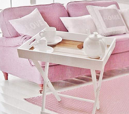 DRULINE dienblad - tafel klaptafel hout serveertafel Butlers Tray bijzettafel inklapbaar