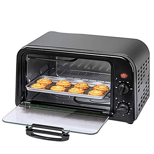 Mini Four/Toast Four/Four éLectrique/Grill éLectrique, Capacité De 10 L, Avec Plaque De Cuisson Et éTagèRe, IdéAl Pour La Viande, Les LéGumes, Les GâTeaux Et Le Pain,Black-10L