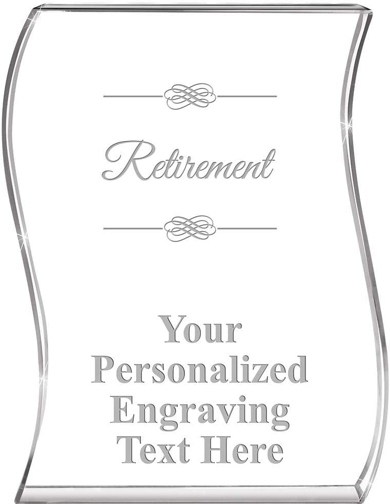 Retirement Wave Acrylic All stores are sold Award Personalized Awar Sale item 4