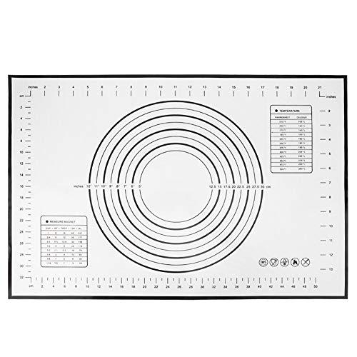 Weikeya Estera de la Masa de Grado alimenticio, 40x60 cm Hecha de Gel de sílice -40 ℃ -230 ℃ para Uso doméstico