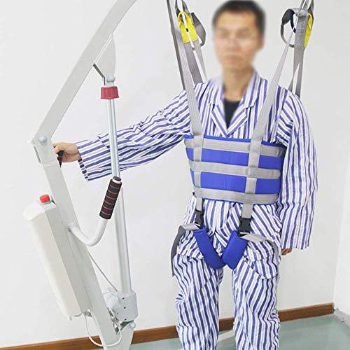 51LaFmRXhqL - ZIHAOH Cabestrillo De Elevación De Paciente De Cuerpo Completo, Cinturón para Caminar Asistido por El Paciente, Las Piernas Se Pueden Separar, Seguridad De Enfermería