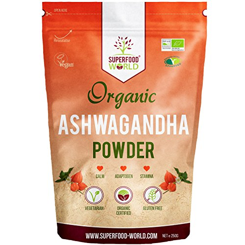 Organic Ashwagandha Root Powder 250g | All Natural Anxiety Relief, Stress Support And Sleep Aid | Fatigue, Adrenal & Immune Support | Herbal Ashwagandha Powder to Help Balance Energy Levels