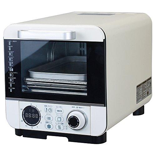 ドウシシャ オーブントースター 焼き芋調理 油不使用で揚げ物 温度調節機能付 コンパクトタイプ 10種類マイコン式 ピエリア COR-100B