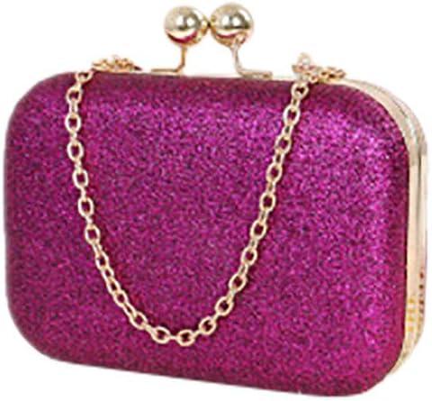 Tweippy Ladies'Fashion Ball Round Head Mini Sequins Dinner Chain Bag,Evening Clutch Bag Designer Evening Handbag Hand Bag,Lady Party Wedding Clutch Purse Shoulder Cross Bag (Purple)