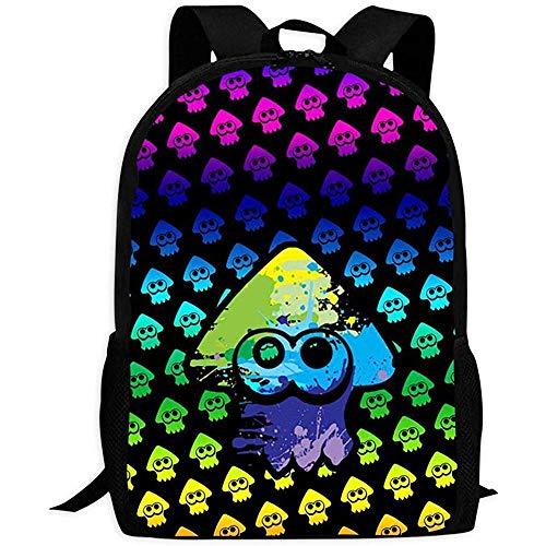 hengshiqi Mochila Backpack, Schoolbags,Splatoon Lightweight Multi-Purpose University Campus Laptop Bag for Girls, Boys, Children and Adults