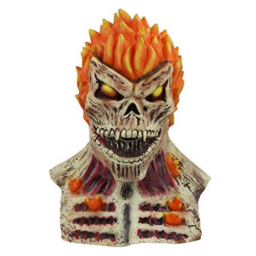 HAPPY & HOME 2019 Halloween Horror Latex Volledig Gezichtsmasker, Slechte Ridder Schedel, Vlammasker Hoofddeksel, Prom Party Kostuum Dress Up, Unisex Een maat