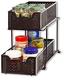 Simple Houseware 2 Tier Sliding Cabinet Basket Organizer Drawer Review