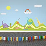 Walplus Removable Dinosaurs Wall Stickers