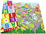 Baby Care Play Mat - Playful Collection (Large, Zoo Town) - Play Mat for Infants – Non-Toxic Baby Rug –...