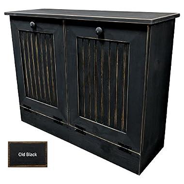Sawdust City Double Tilt Out Trash Cabinet (Old - Black)