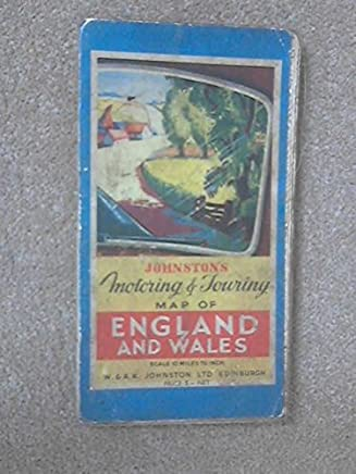 JohnstonS Motoring & Touring Map Of England And Wales