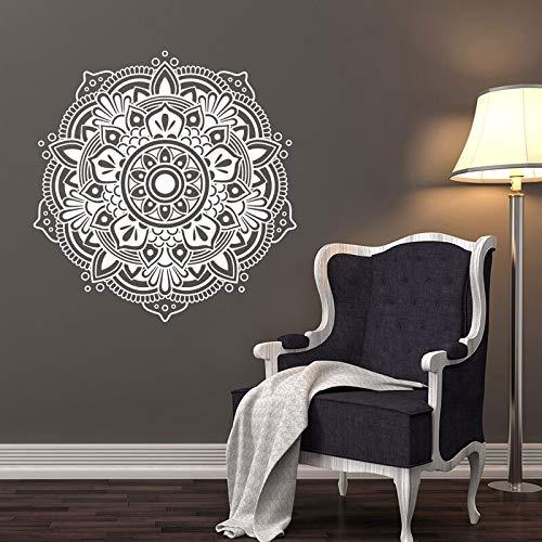 Murales de mandala, accesorios de dormitorio, murales de sala de yoga, murales de mandala, adhesivos de pared de dormitorio de estilo bohemio A6 42x43cm