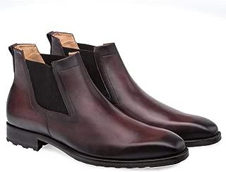 Omar Brown Calfskin Leather Men's Modern Chelsea Boot