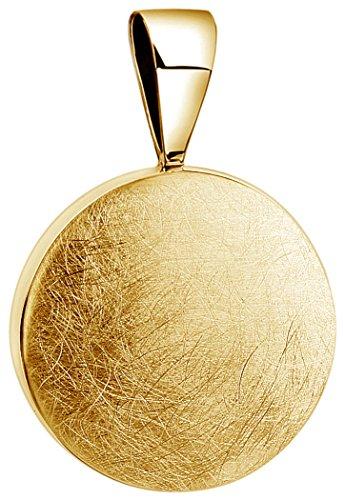 Nenalina Rund Anhänger für Damen Kette oder Halskette vergoldet in 925 Sterling Silber, 361305-500