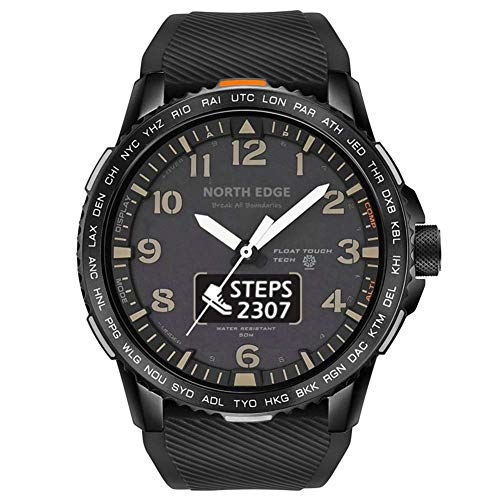 WRJY Relojes Deportivos Militares para Hombre 50M Impermeable Pantalla Dual Pantalla táctil Bluetooth Reloj Inteligente Frecuencia cardíaca Calorías Podómetro Cronómetro Reloj Militar a