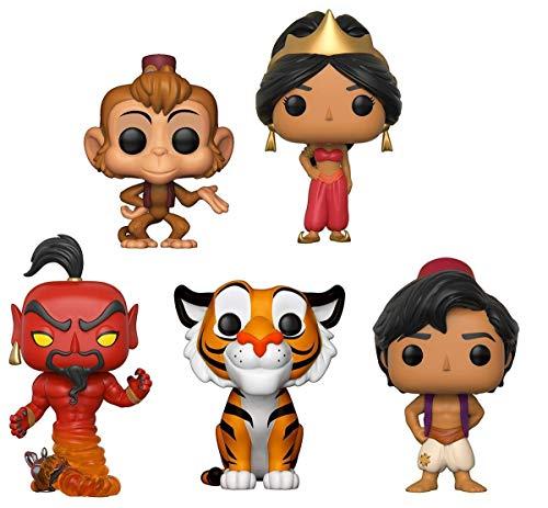 Funko POP!: Disney: Aladdin: Aladdin + Abu + Jasmine + Rajah + Jafar