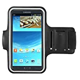 Black Outdoors Running Sport GYM Armband case for Samsung
