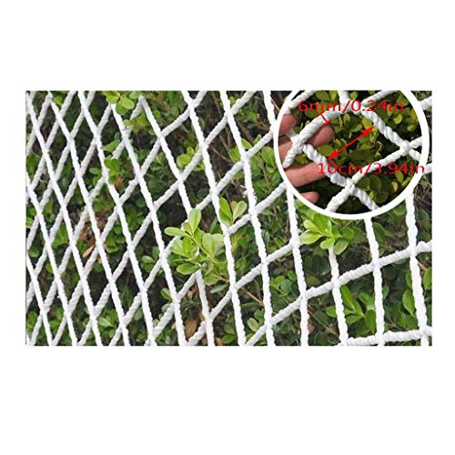 HWJ Kinder Absturzsicherung Sicherheitsnetz Kindersicherheitsschutz Netting Balkon Treppen Zaun-Netz Climbing Nylon Netto Weiß Dekoration Nettowarennetto Anti-Fallen Net Indoor Outdoor Multi-Größe