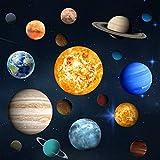 Sistema Solare Adesivi, Senteen 3 Fogli Pianeti Adesivi Fluorescenti Adesivo Da Parete Pianeti Stelle e Pianeti Fluorescenti Adesive Soffitto, per Camera Da Letto Stanza Del Bambino(30 Pianeti)