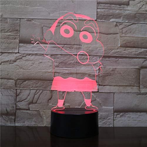 Illusion Lampe, Led Farbverlauf Touch 7 Farbe Nachtlicht, 3D Acryl Tischlampe, Buntstifte Kleine Neue Atmosphäre Lampe