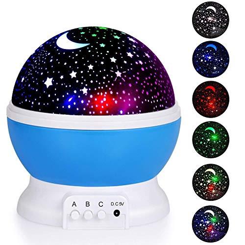 WHKHY Star Night Light Projector Bedtime Lights Applique Murale Lampes pour Filles à Enfants (Bleu) pour Le Couloir de la Chambre à Coucher Cuisine Salle de Bains Lounge Bar à l'intérieur des Lampes,