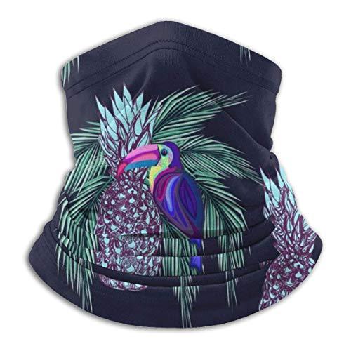 Neck Warmer Toucans and Pineapples Neck Warmer Windproof Balaclava Fleece Hood Free UV Winter Hats