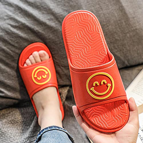 LLGG Zapatos de Playa Piscina Unisex Adulto,Zapatillas de Fondo Blando de Deslizamiento, Sandalias de Desgaste de Dibujos Animados-Naranja_42/43,Zapatillas Interior Piso