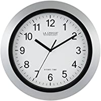 La Crosse Technology 12 Inch Atomic Analog Wall Clock