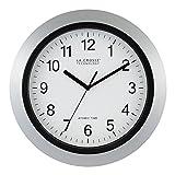 La Crosse Technology WT-3129S 12 Inch Atomic Analog Wall Clock-Silver, 12'