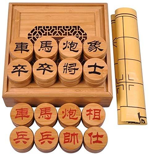 Ajedrez para tablero harry potter viaje Conjunto de ajedrez chino, juegos de juegos de viajes xiangqi con tablero de ajedrez de cuero en una caja fuerte adulto y niños ajedrez amigable ambientalmente