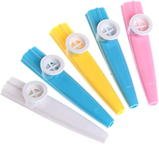 Forgun 5pcs Plastic Kazoo Harmonica Mouth Flute-Children Party Gift Musical Instrument