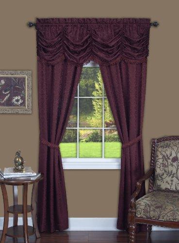 Achim Home Furnishings Panache Window Panel, 55-Inch by 63-Inch, Burgundy