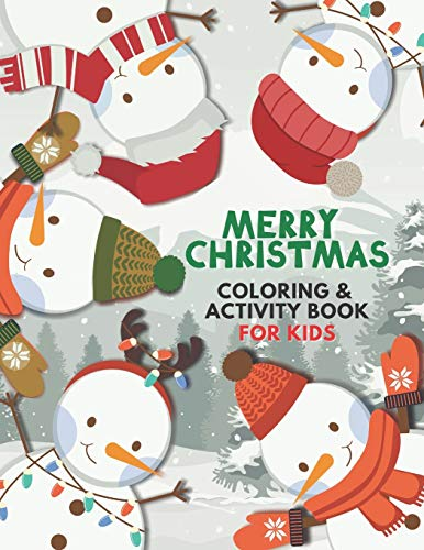 Merry Christmas Coloring and Activity Book for Kids: The Ultimate Giant Book: with Holiday Mazes, Color by Number, Dot-to-Dot, Tracing, I Spy, Advent ... (Modern Coloring & Activity Books for Kids)