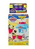Bundle Play Doh Kitchen Creations Popcorn Party Play Food Set + Play Doh Plus Compound