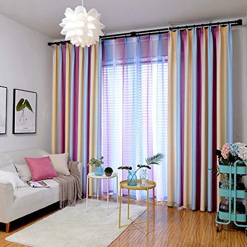 lxwi Haus Dekoration Vorhänge Sind Frisch Und Einfach Modernes Schlafzimmer Wohnzimmer Erker Mittelmeer Vorhang Breite 2,0 Meter Hoch 2,7 Meter Hakentyp Einzelstück
