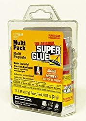 multi-pack of mini tubes of super glue for DIYers