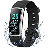 POWLAKEN Advanced Fitness Trackers HR,IP68 Waterpoof Activity Trackers with Heart Rate and Sleep