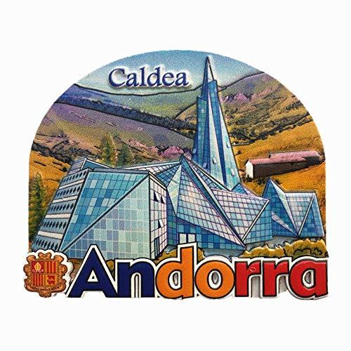Caldea Andorra - Imán para nevera, recuerdo turístico, decoración para el hogar, cocina, imán para nevera