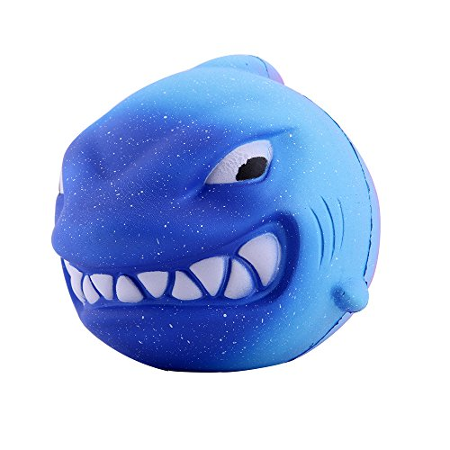 Anboor 55 Inches Squishies Shark Galaxy Jumbo Kawaii Super Soft Slow Rising Scented Animal Big Squishies Stress Relief Kid Toys
