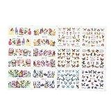 Mariposas pegatinas para decoración de uñas, transferencia de...